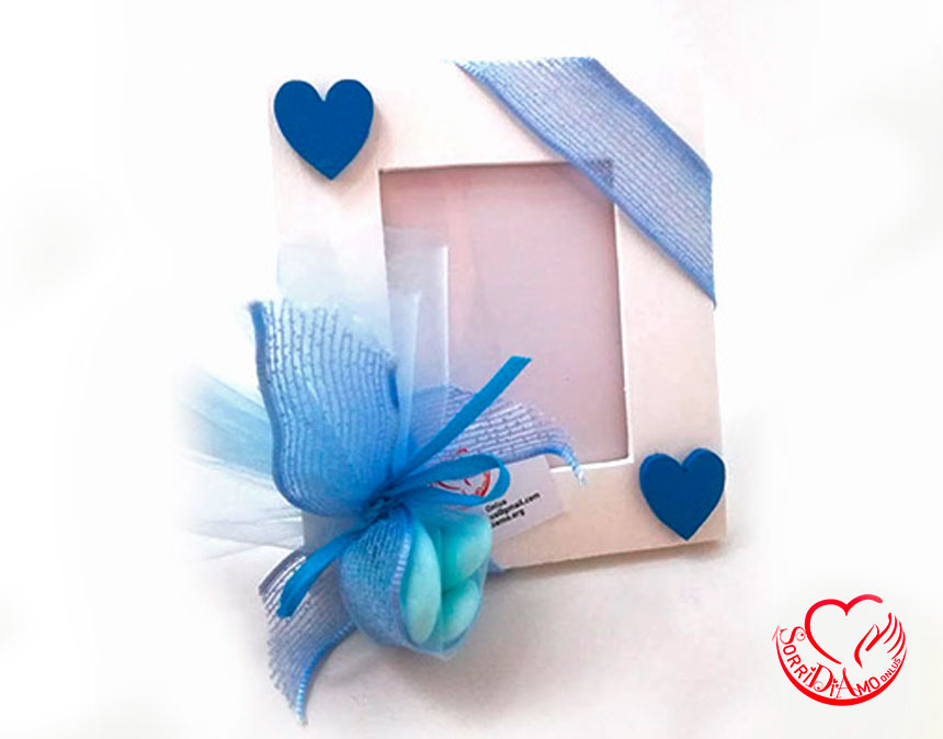Bomboniera-porta-foto-azzurra