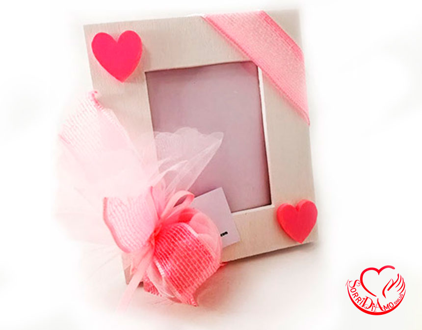 Bomboniera-porta-foto-rosa